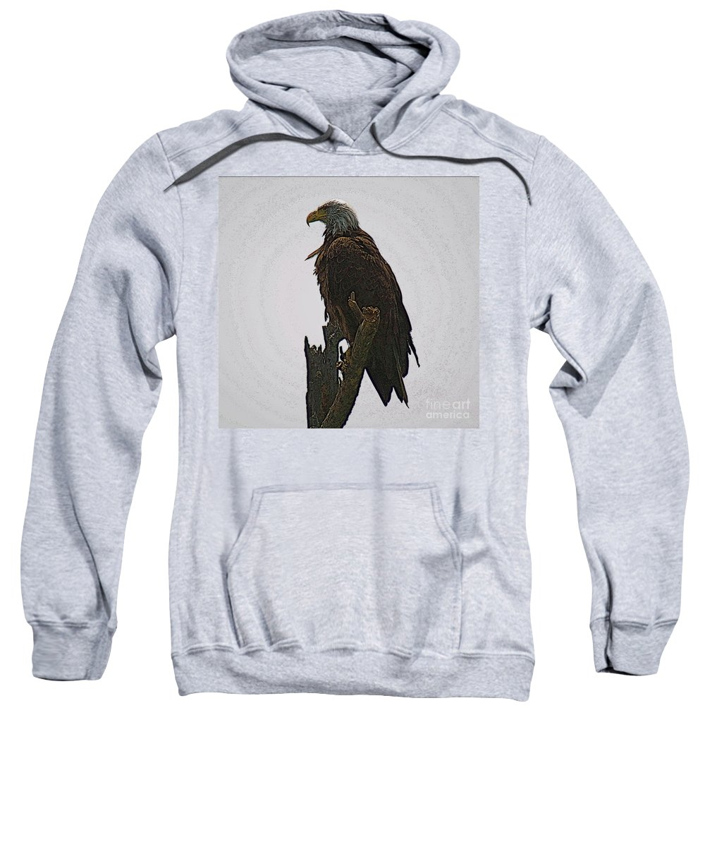 Bald Eagle Sweatshirt featuring the photograph Solitude by Robert Pearson
