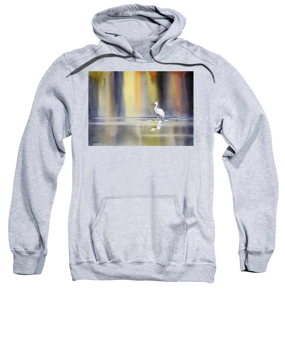 Watercolor Sweatshirt featuring the painting Solitude by Ryan Radke