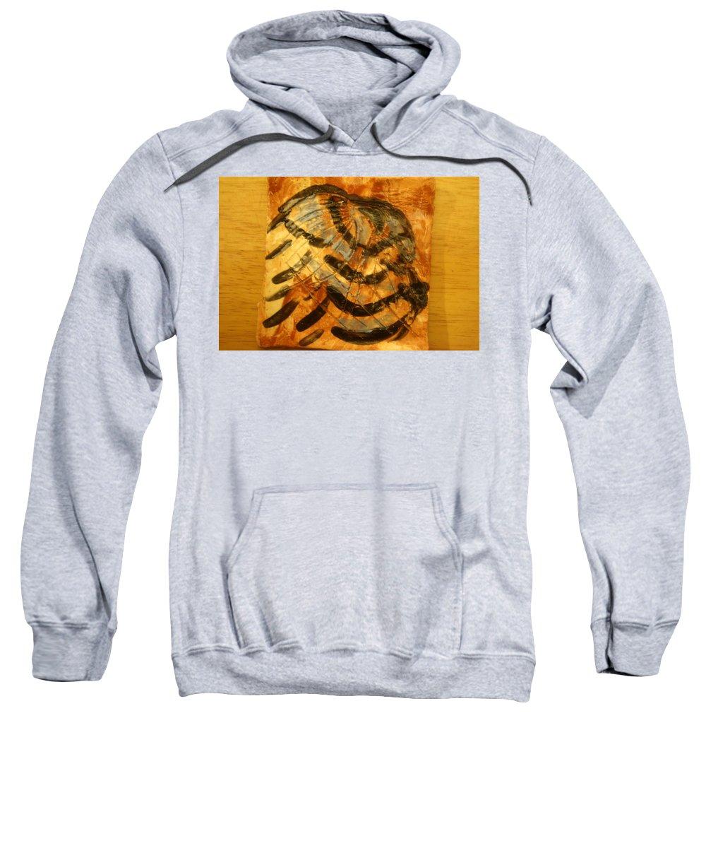Jesus Sweatshirt featuring the ceramic art Solomon - Tile by Gloria Ssali