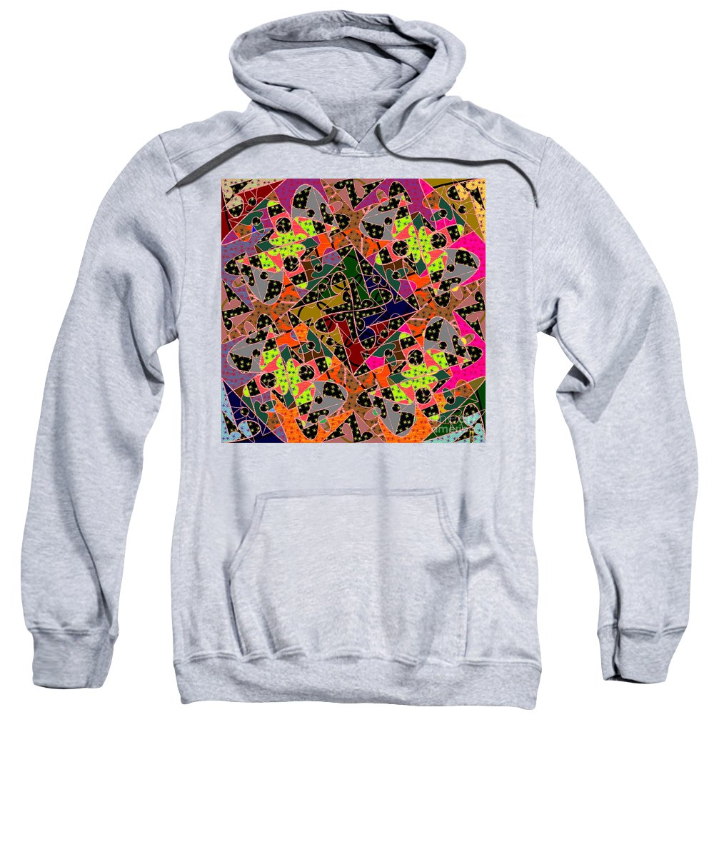 Mkatz Sweatshirt featuring the digital art Some Harmonies And Tones 60 by MKatz Brandt