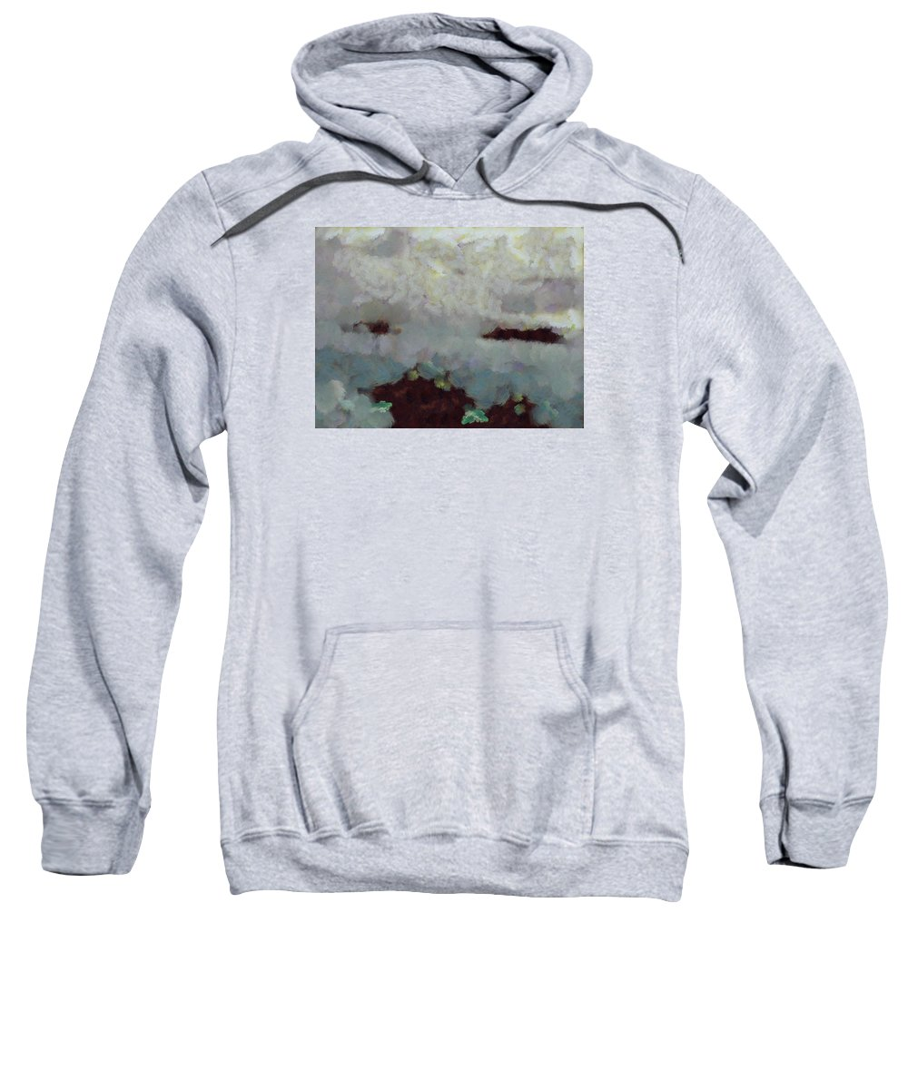Abstract Sweatshirt featuring the photograph Someone Behind The Clouds by Ashish Agarwal