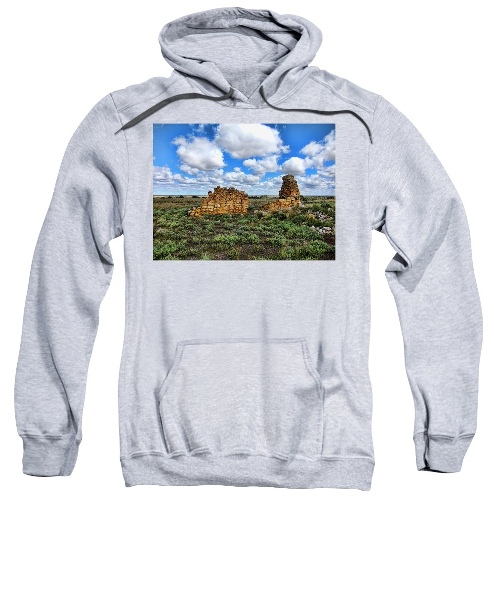 Ruins Sweatshirt featuring the photograph Someone Once Lived There by Douglas Barnard