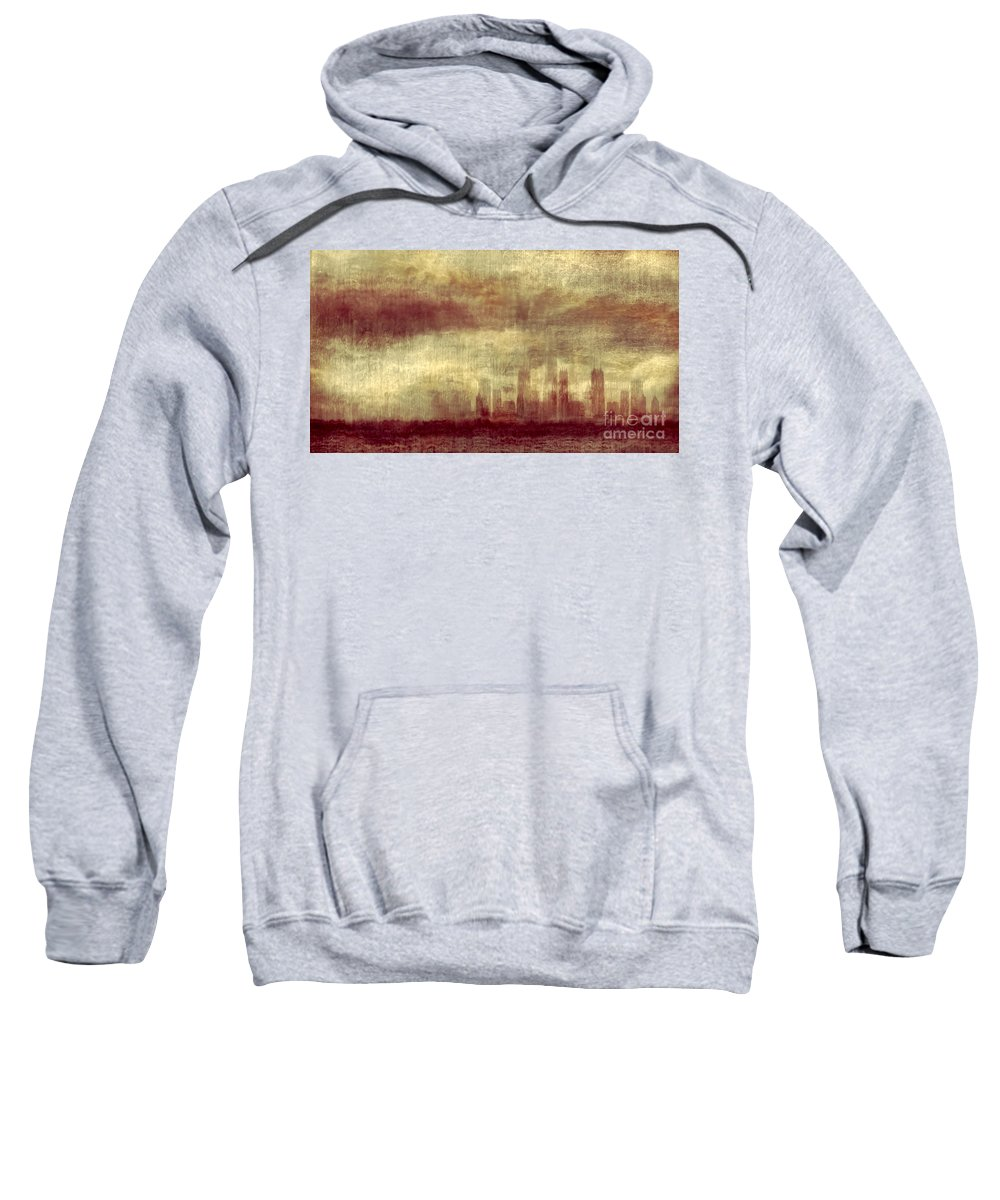 Clouds Sweatshirt featuring the photograph Someone To Hold You Beneath Darkened Sky by Dana DiPasquale