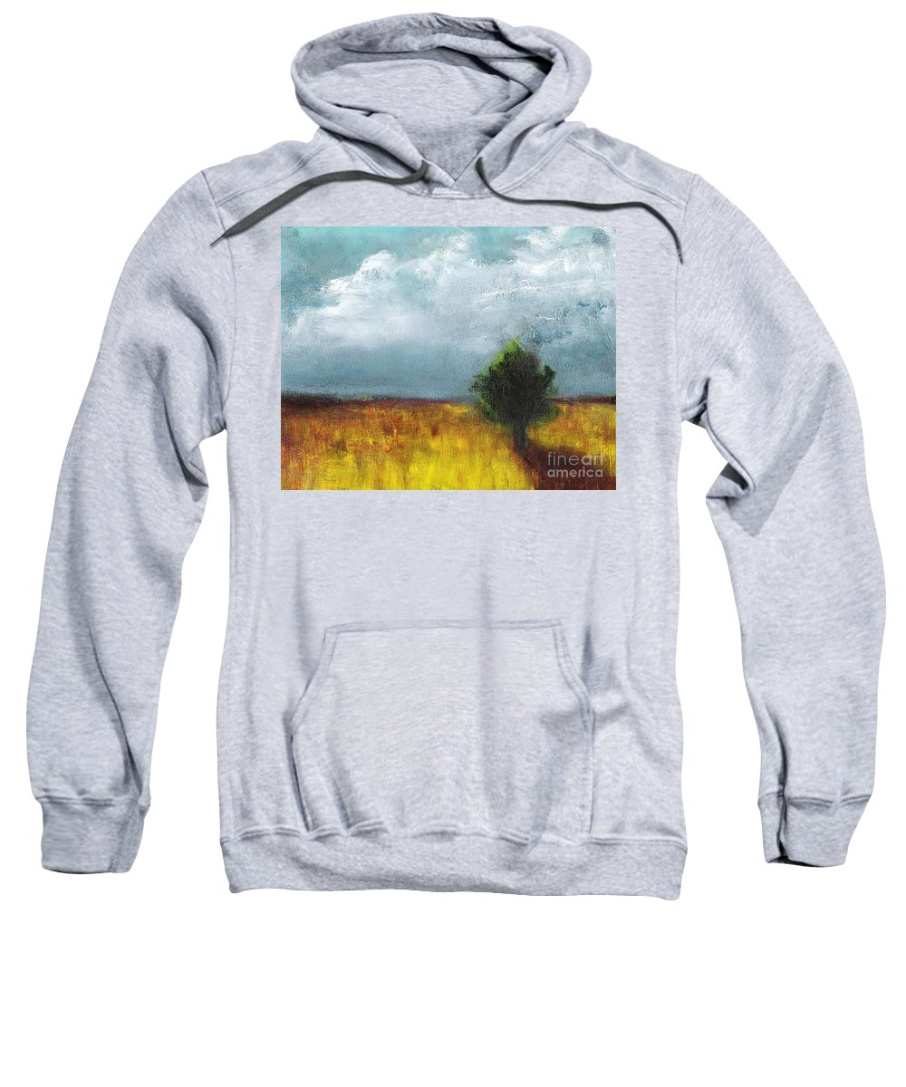 Landscapes Sweatshirt featuring the painting Sometimes The Light Is Just Right by Frances Marino