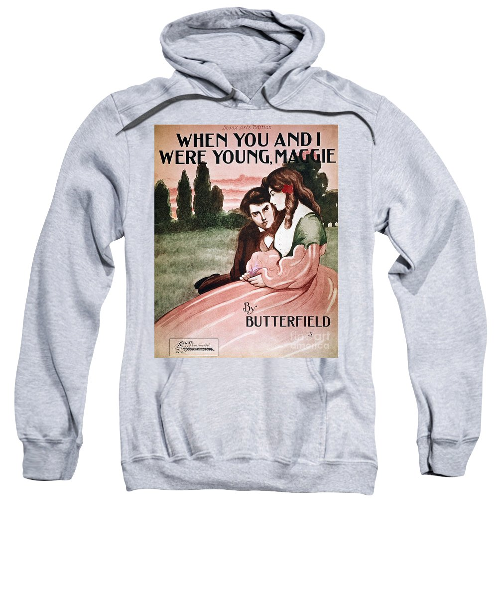 1895 Sweatshirt featuring the photograph Song Sheet Cover, C1895 by Granger
