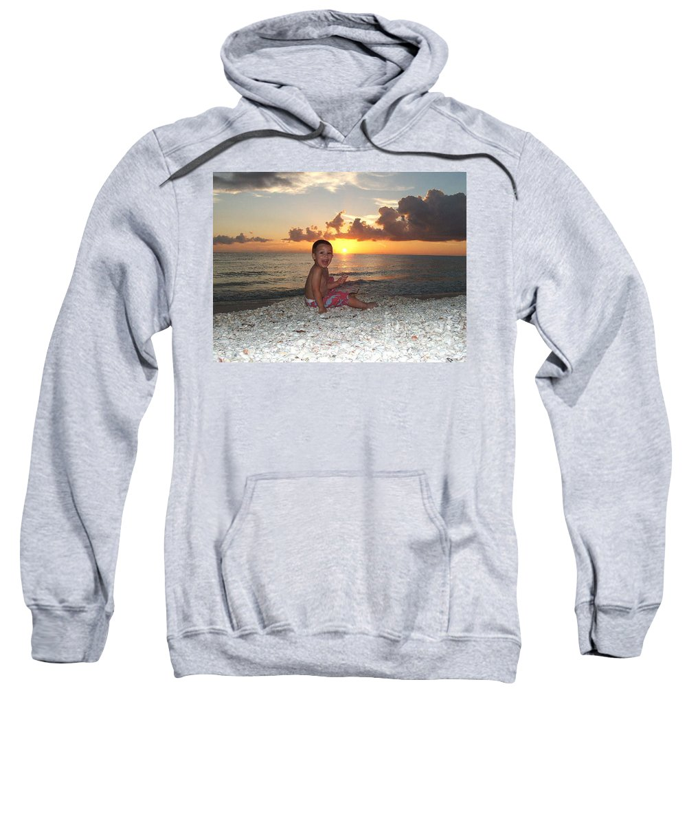 Sunset Sweatshirt featuring the photograph Sonsun by Michelle S White