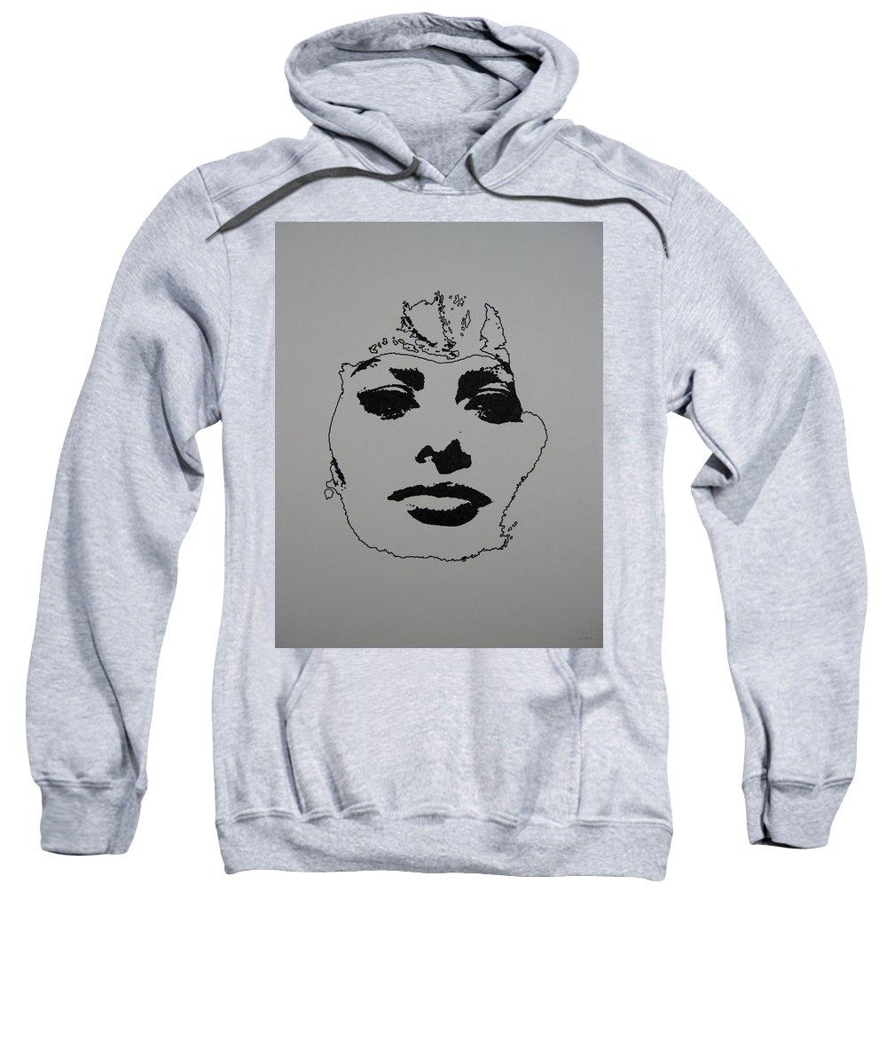 Sophia Sweatshirt featuring the drawing Sophia by Lynet McDonald
