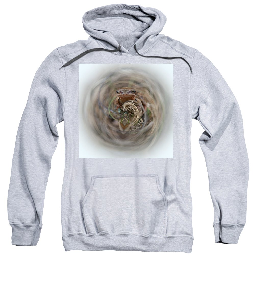 Lehtokukka Sweatshirt featuring the photograph Sorry Said The Frog 2 by Jouko Lehto