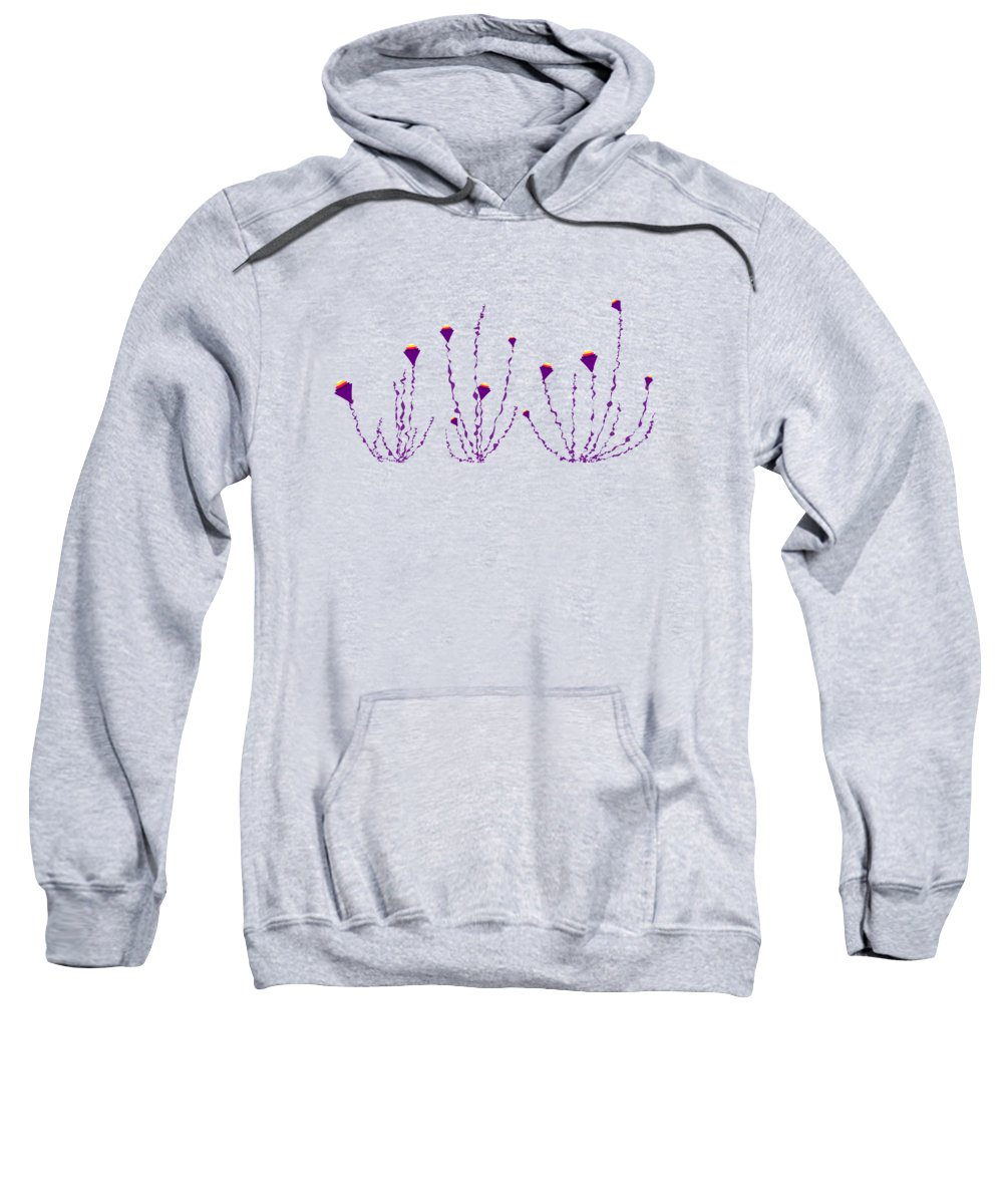 Abstract Sweatshirt featuring the digital art Soul Flowers by Anastasiya Malakhova
