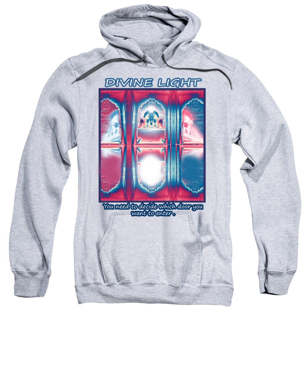 Soul Sweatshirt featuring the digital art Soul Search - Part 2 -search For Truth by Rupali Sharma