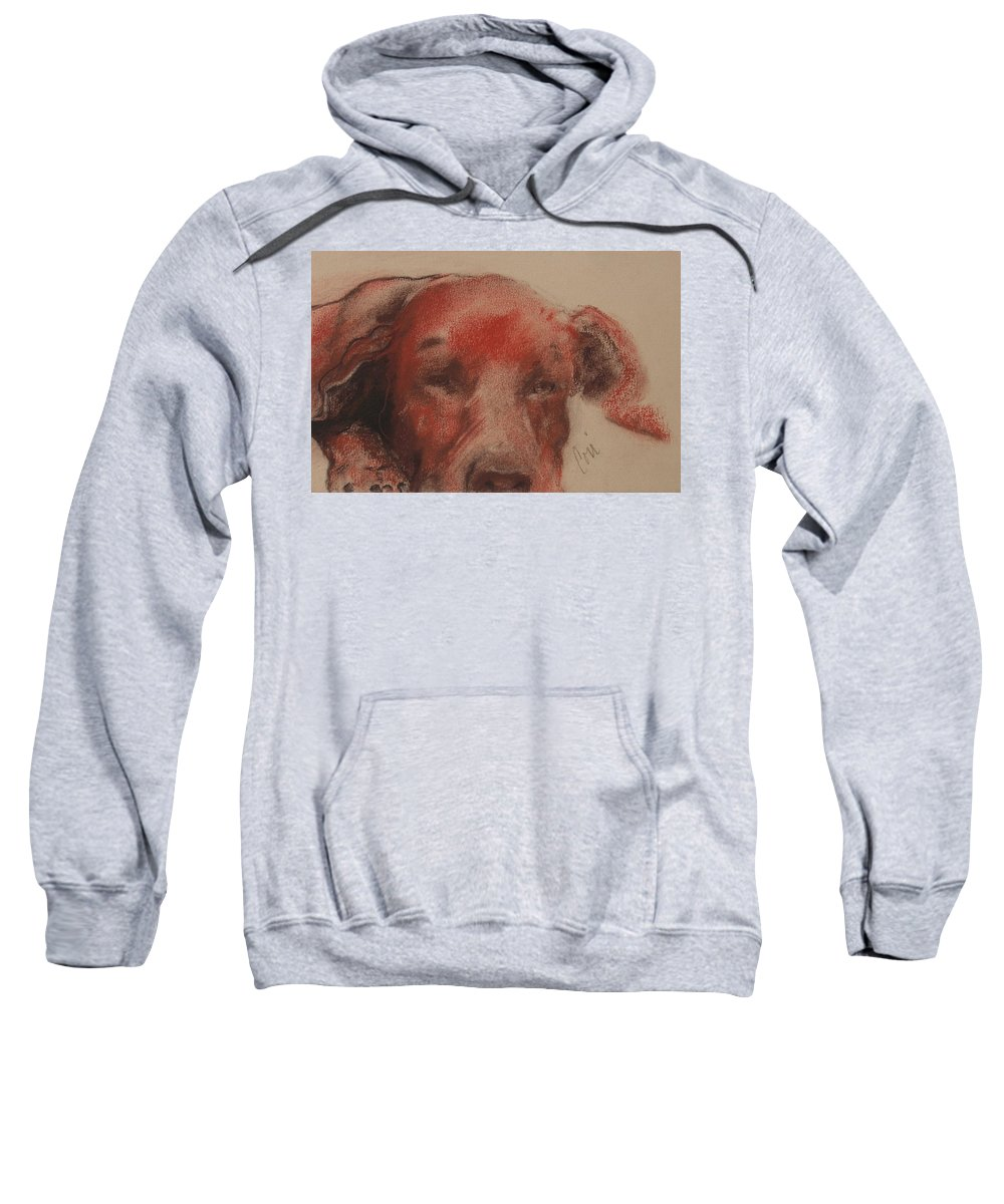 Pastel Sweatshirt featuring the drawing Soul Searcher by Cori Solomon