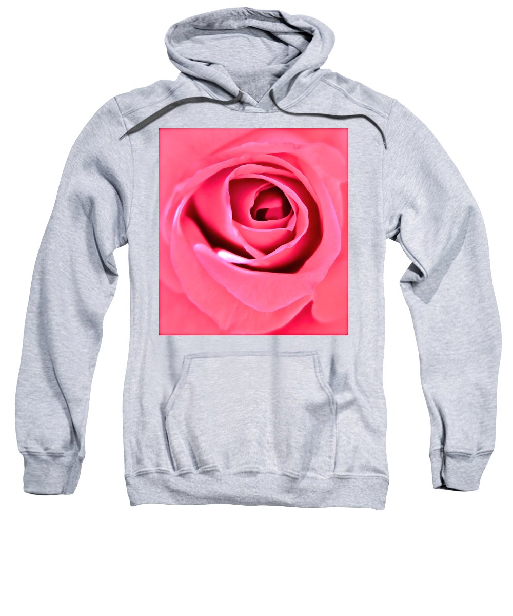 Photograph Of Pink Rose Sweatshirt featuring the photograph Soul Searching by Gwyn Newcombe