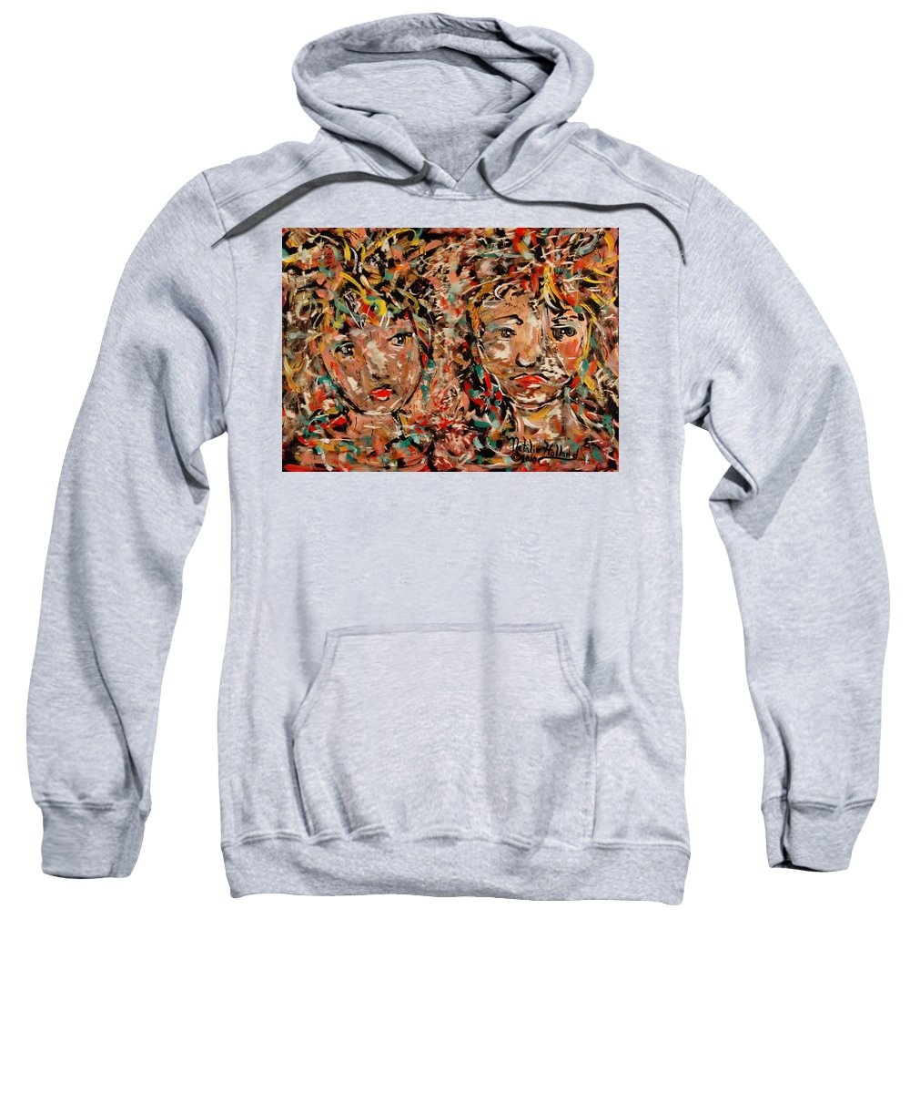 Soulmates Sweatshirt featuring the painting Soulmates by Natalie Holland