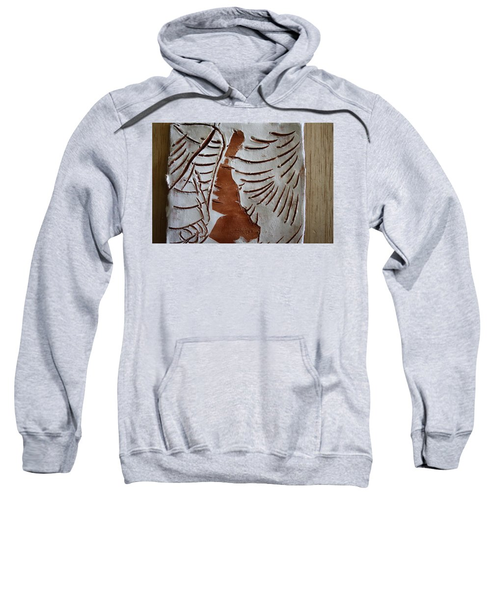 Jesus Sweatshirt featuring the ceramic art Souls Window - Tile by Gloria Ssali