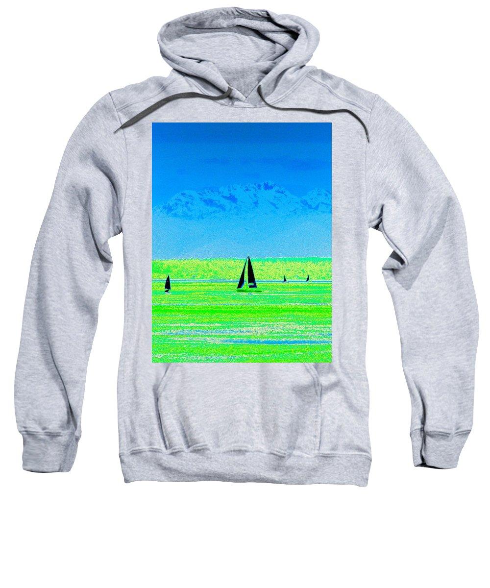 Sail Sweatshirt featuring the photograph Sound Sailin by Tim Allen