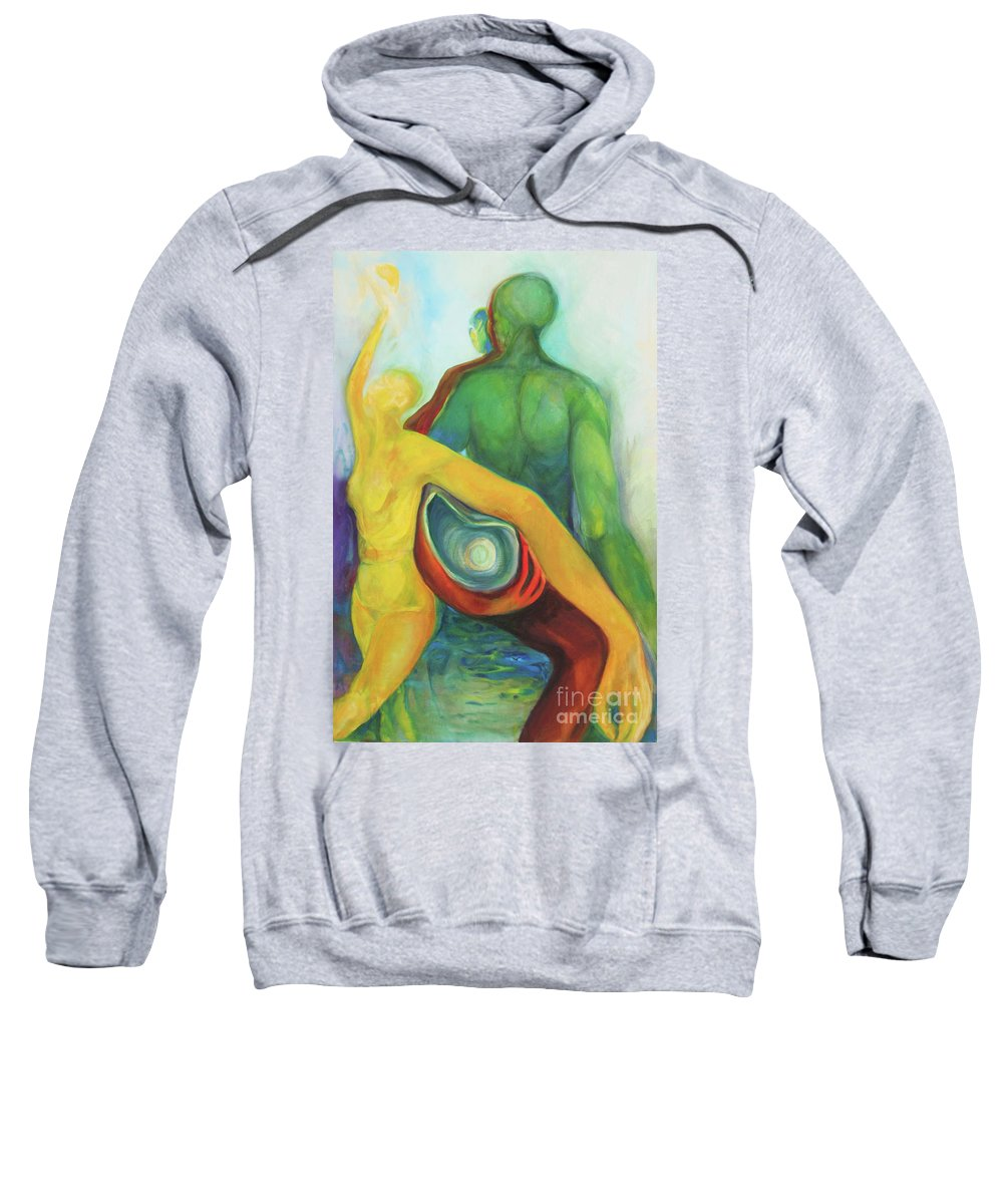 Oil Painting Sweatshirt featuring the painting Source Keepers by Daun Soden-Greene