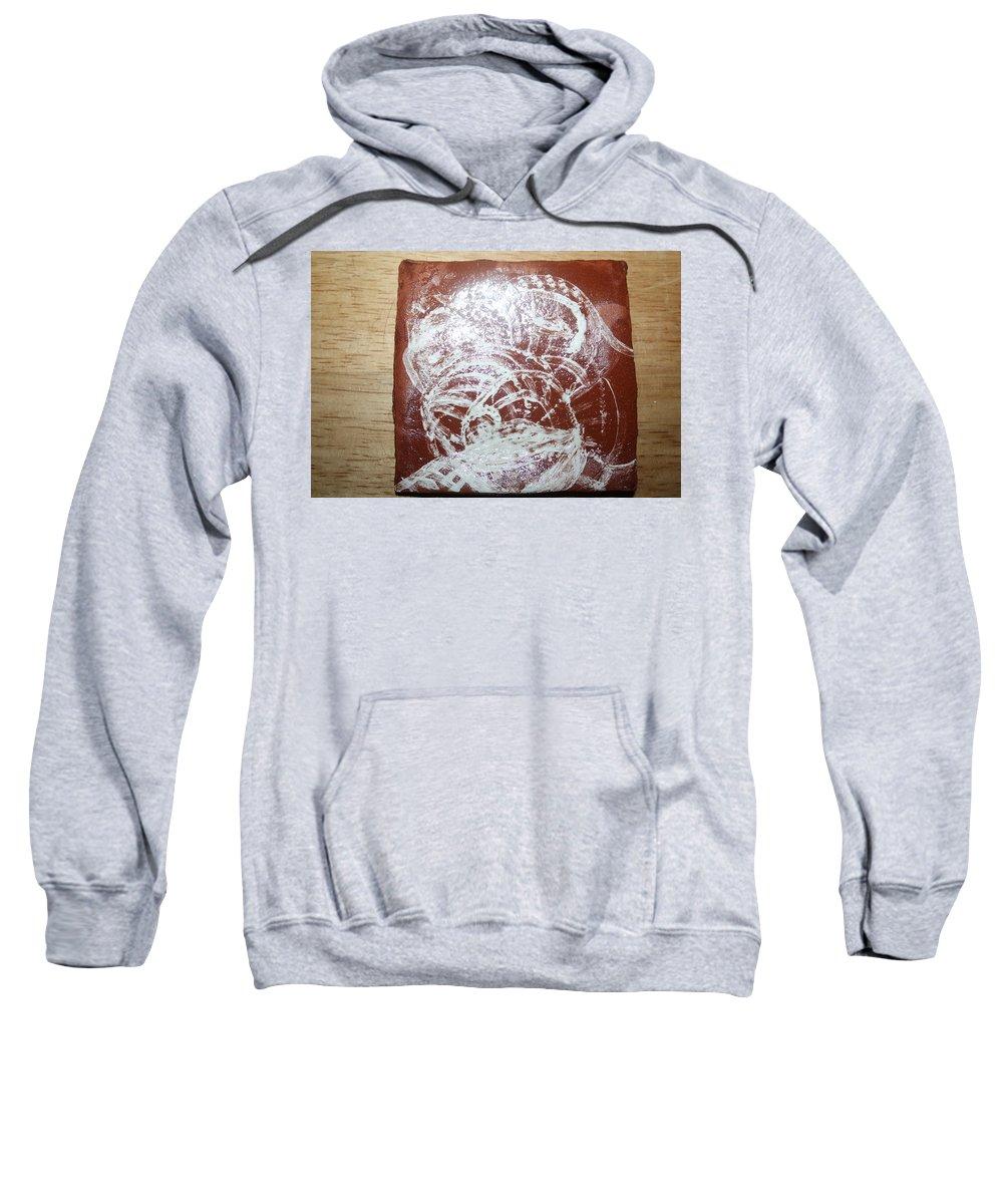 Jesus Sweatshirt featuring the ceramic art Sources -tile by Gloria Ssali