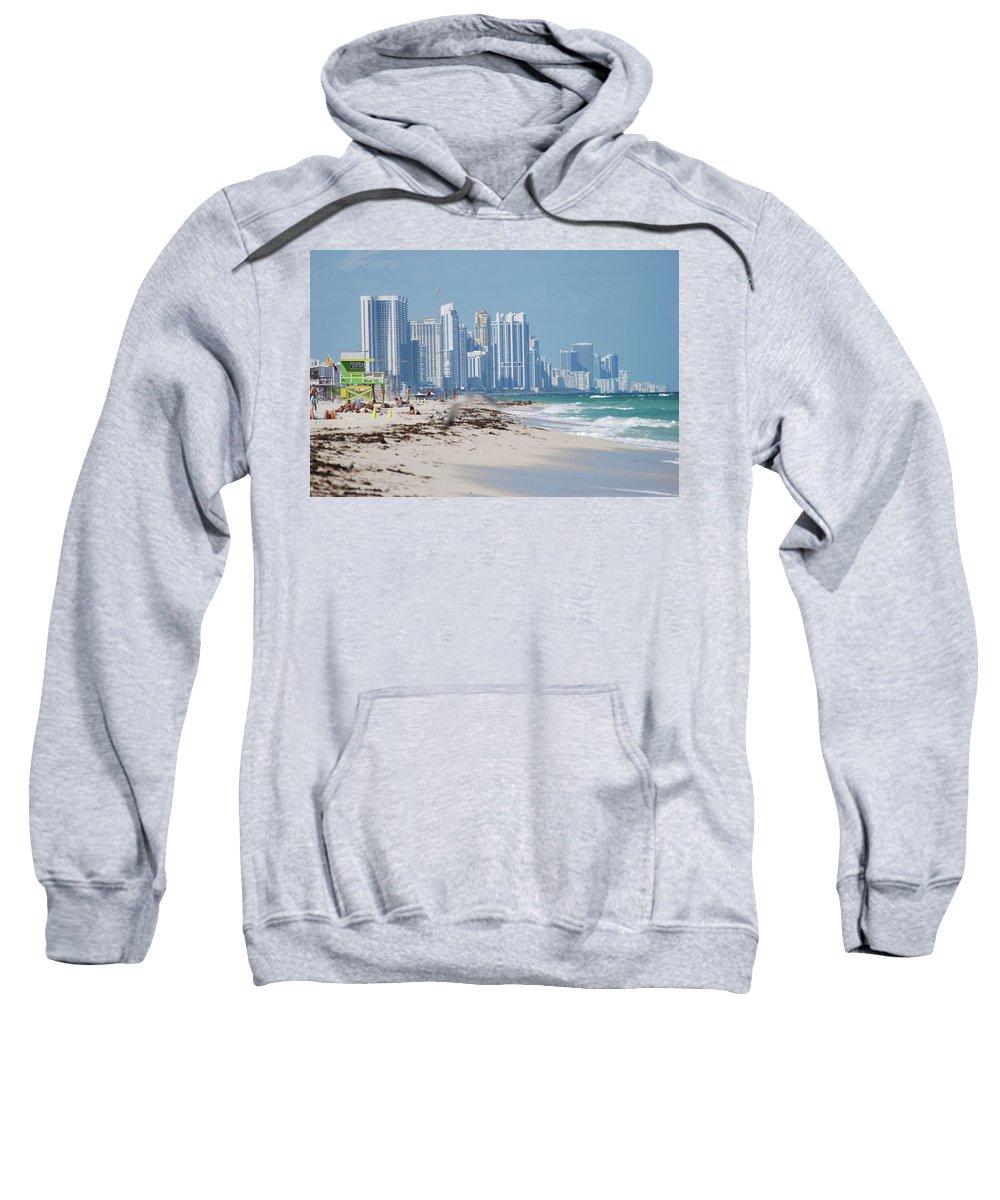 South Beach Sweatshirt featuring the photograph South Beach Baby by Rob Hans