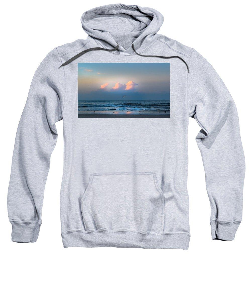 South Carolina Sweatshirt featuring the photograph South Carolina Sunrise by Debra Bowers