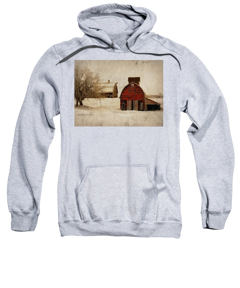 Barn Sweatshirt featuring the photograph South Dakota Corn Crib by Julie Hamilton