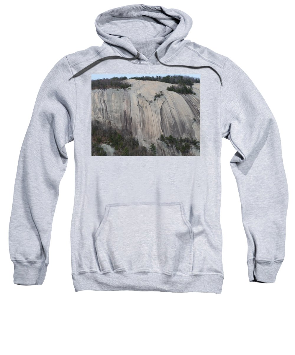 Stone Mountain Sweatshirt featuring the photograph South Face - Stone Mountain by Joel Deutsch