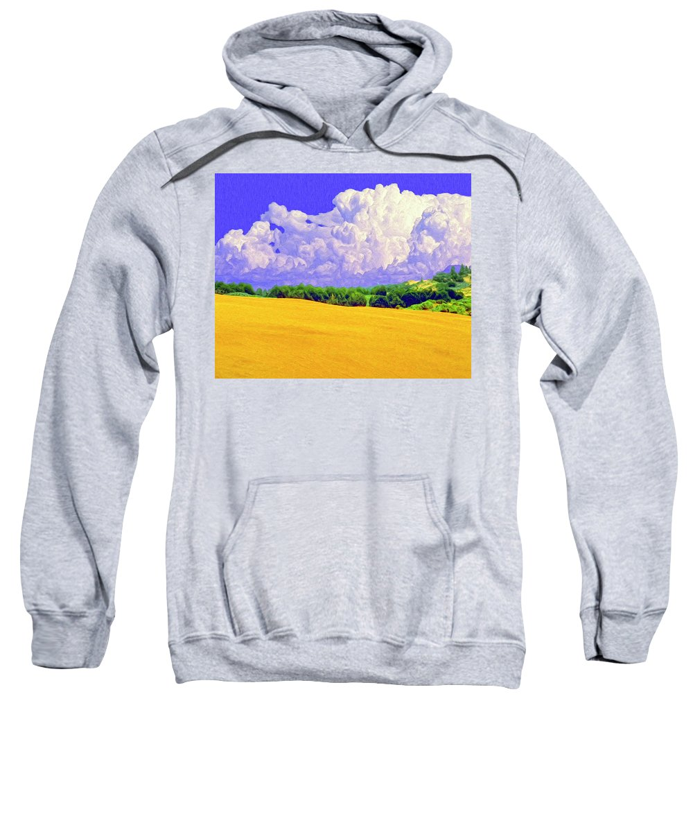 Wheat Field Sweatshirt featuring the painting South Forty by Dominic Piperata