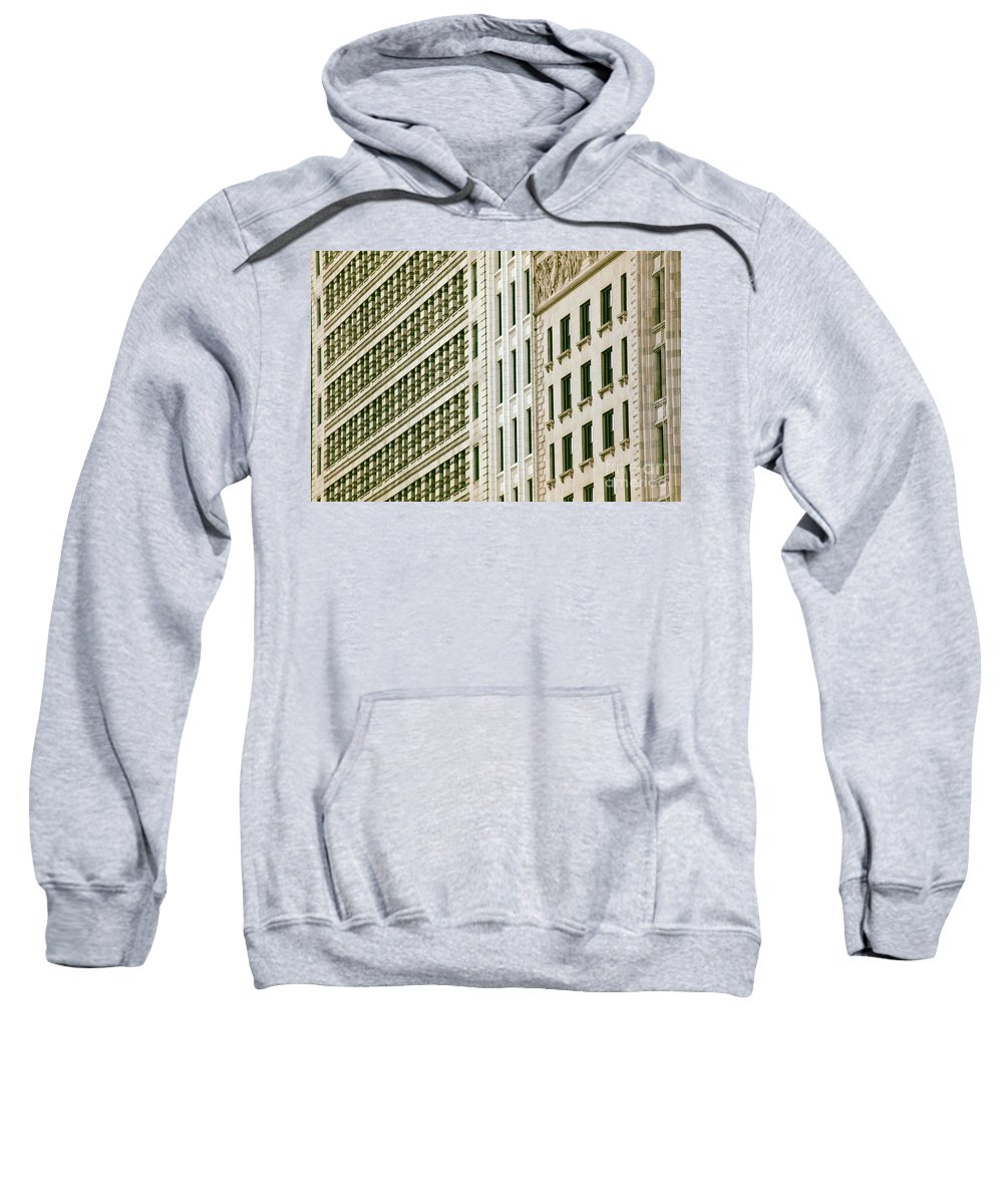 Architecture Sweatshirt featuring the photograph South Michigan Avenue by Dennis Knasel