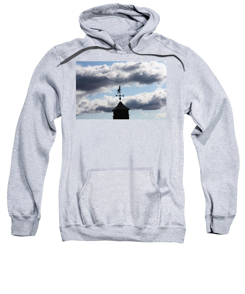 Sky Sweatshirt featuring the photograph South-south-east by Erin Rosenblum