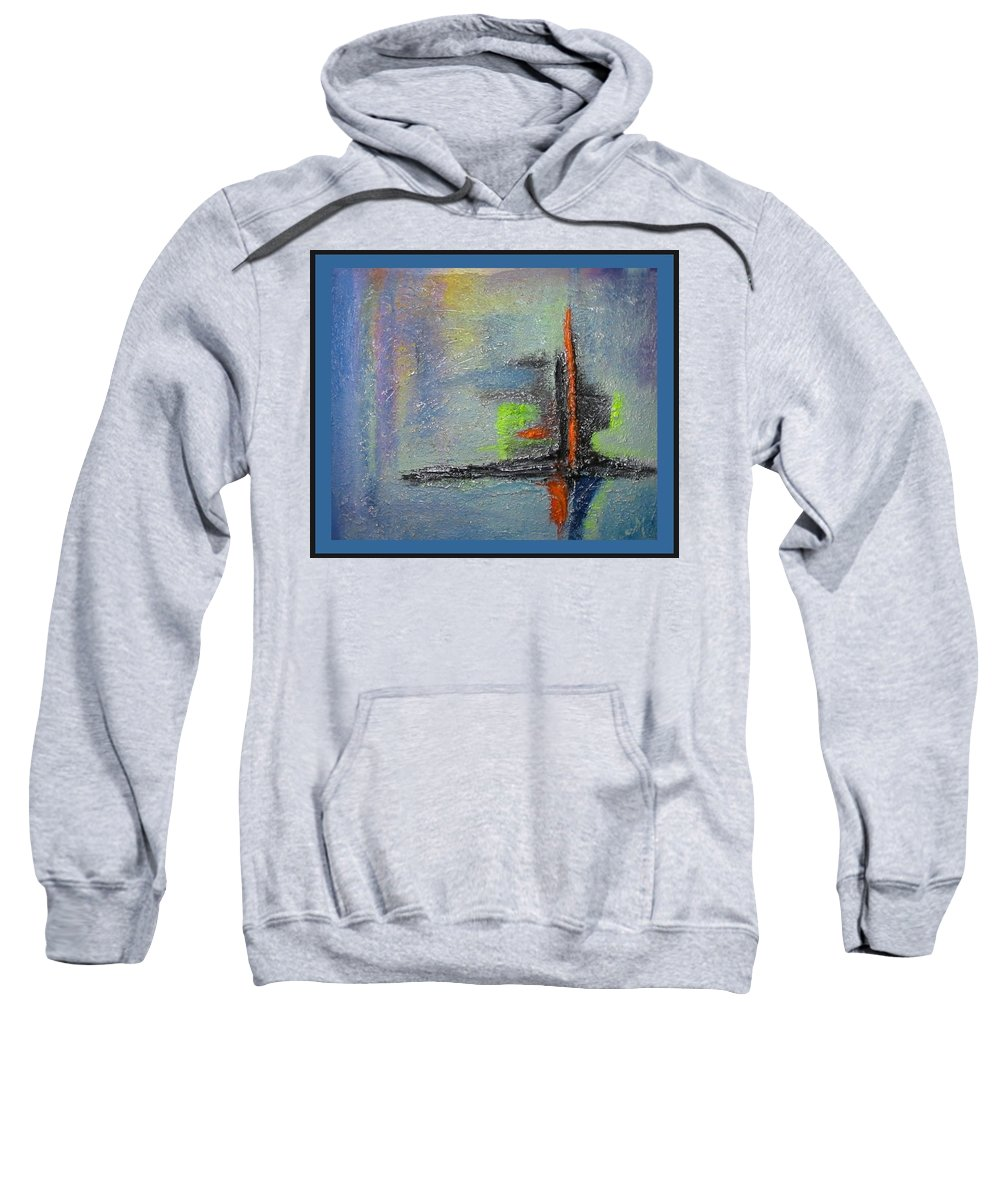 Mixed Media Sweatshirt featuring the mixed media South Star by Dragica Micki Fortuna
