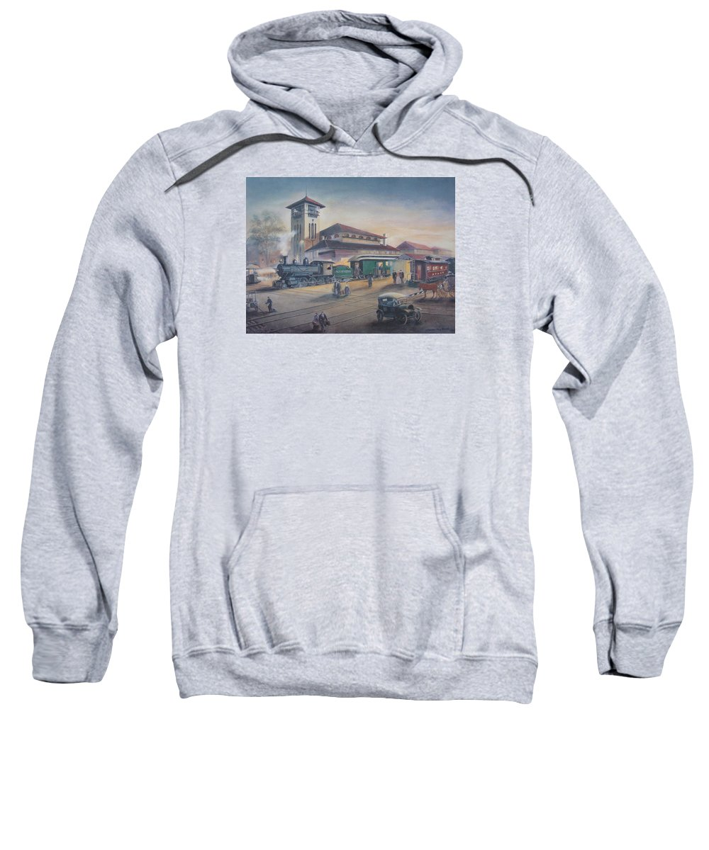 Charles Roy Smith Sweatshirt featuring the painting Southern Railway by Charles Roy Smith