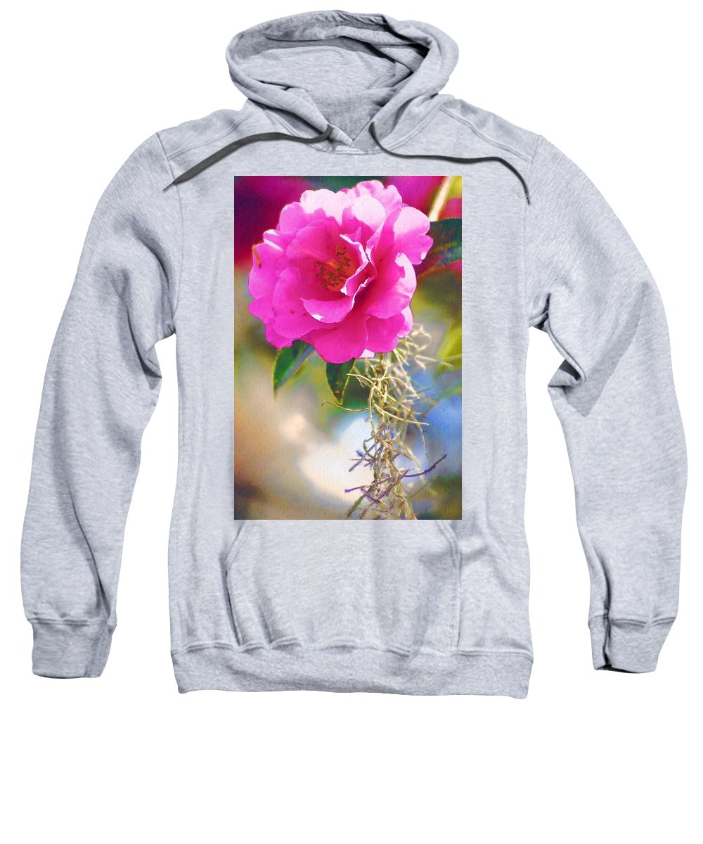 Rose Sweatshirt featuring the digital art Southern Rose by Donna Bentley