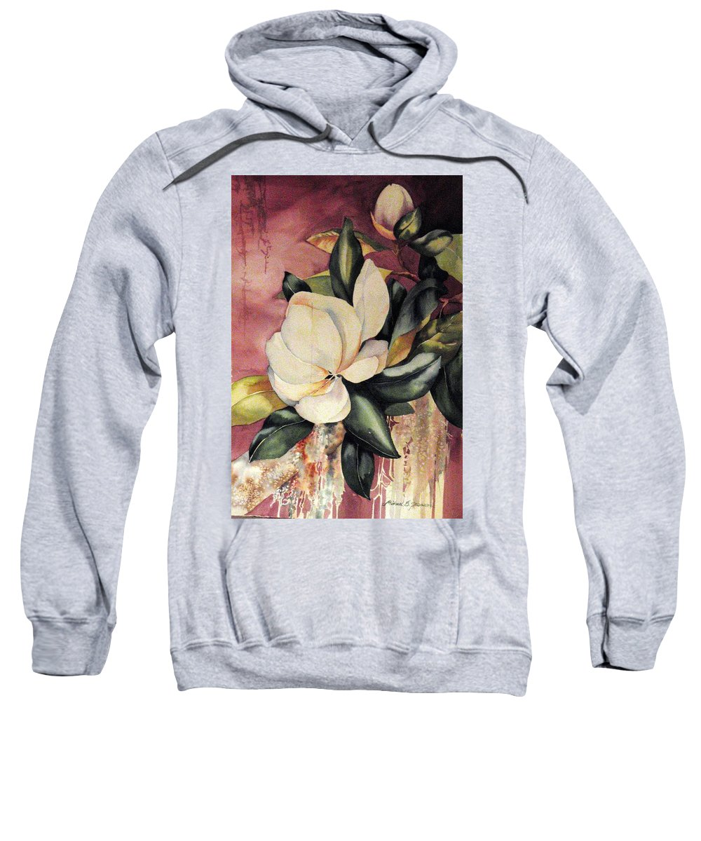 Floral Sweatshirt featuring the painting Southern Scents by Michael Pearson