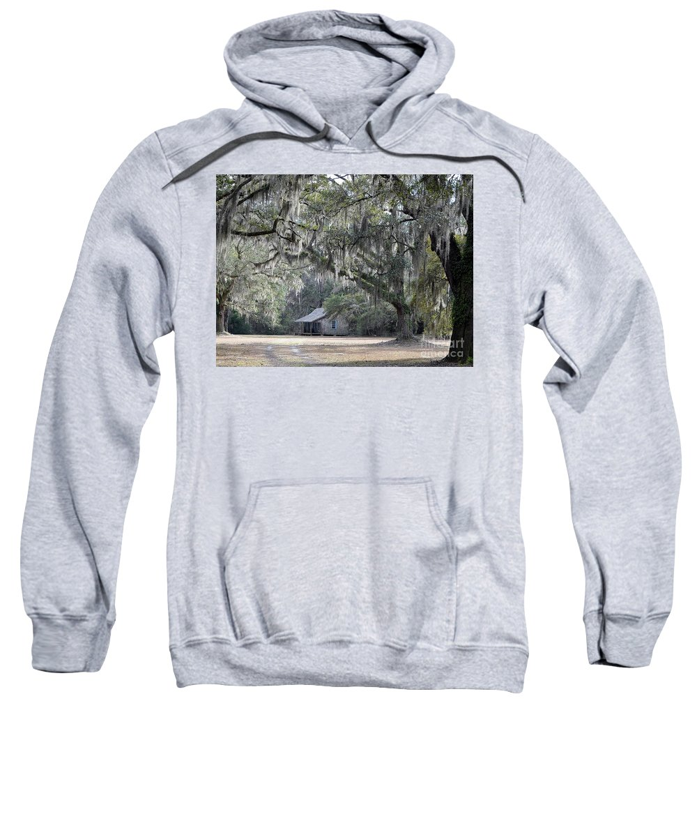 Live Oak Trees Sweatshirt featuring the photograph Southern Shade by Al Powell Photography USA