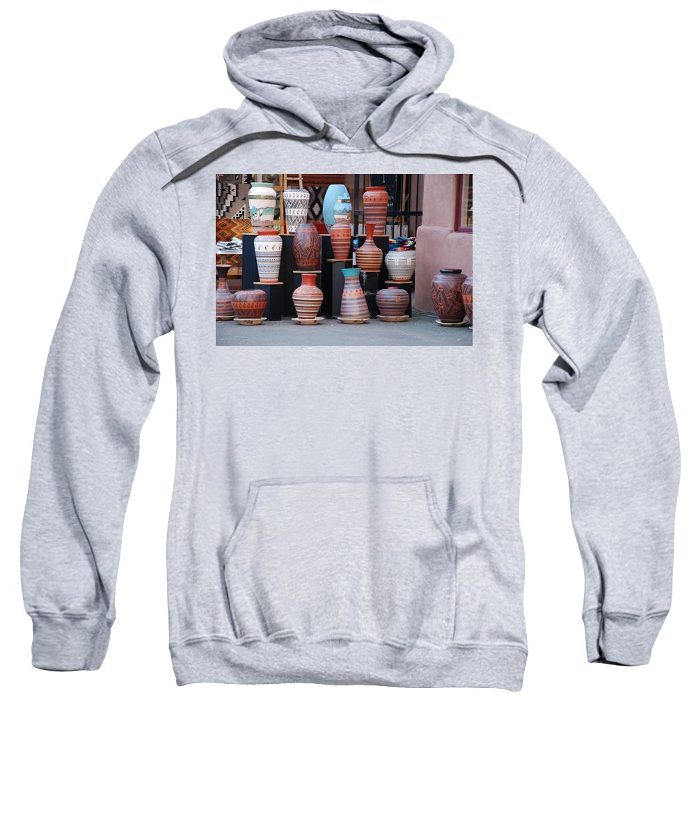 Southwestern Sweatshirt featuring the photograph Southwestern Potery by Rob Hans