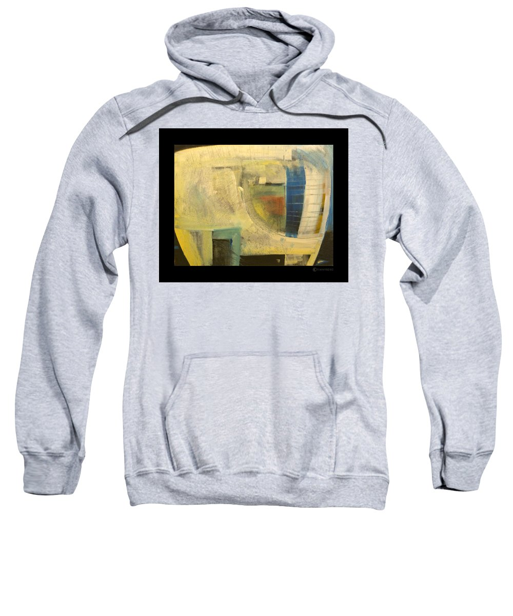 Dog Sweatshirt featuring the painting Space Dog by Tim Nyberg