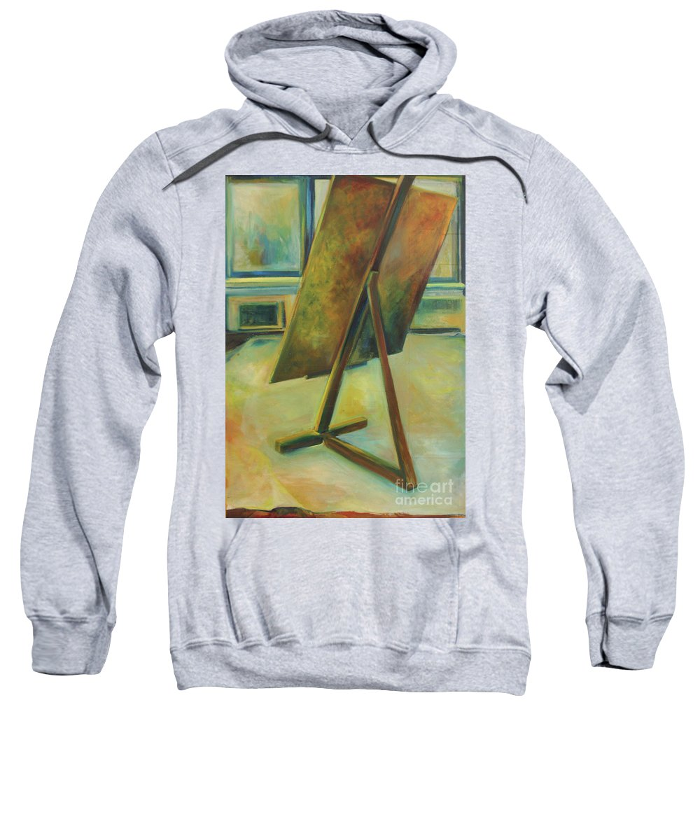 Oil Painting Sweatshirt featuring the painting Space Filled And Empty by Daun Soden-Greene