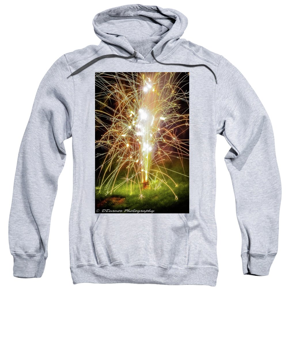 Sweatshirt featuring the photograph Spark Of The Fountain by Dillon Turner