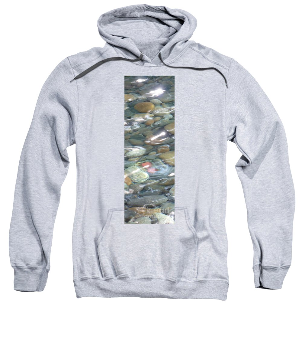 Sparkling Water Sweatshirt featuring the photograph Sparkling Water On Rocky Creek 2 by Carol Groenen