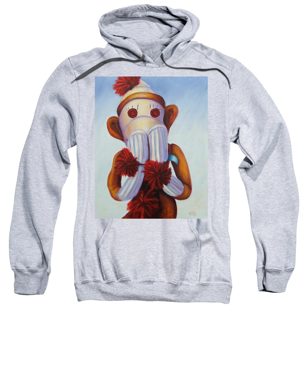 Children Sweatshirt featuring the painting Speak No Bad Stuff by Shannon Grissom