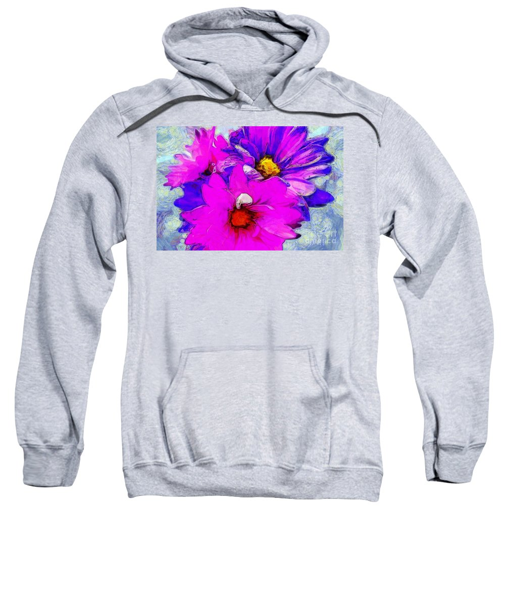Daisies Sweatshirt featuring the photograph Special Delivery by Krissy Katsimbras