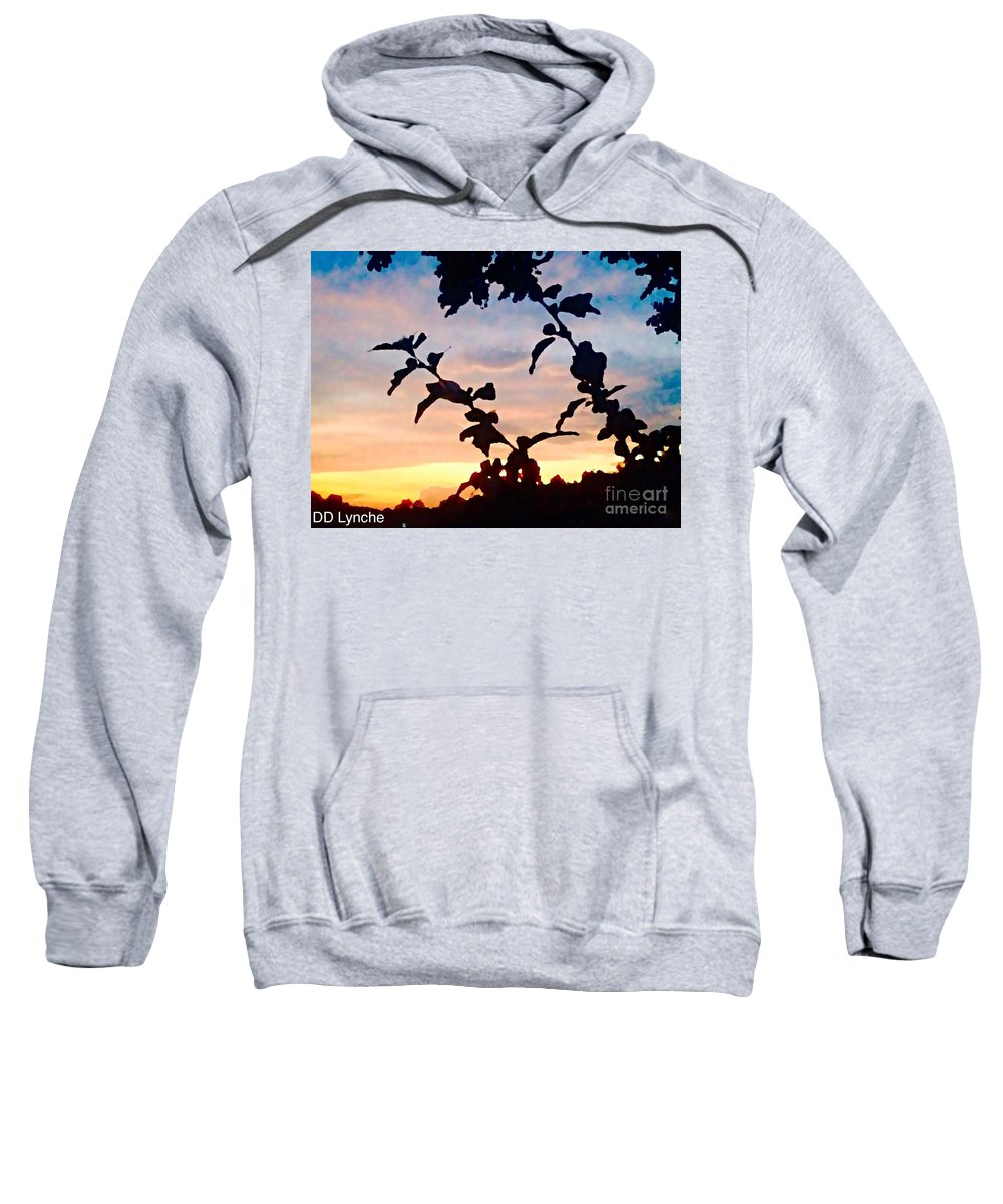 Flowers Sweatshirt featuring the photograph Special View Of Sunset by Debra Lynch