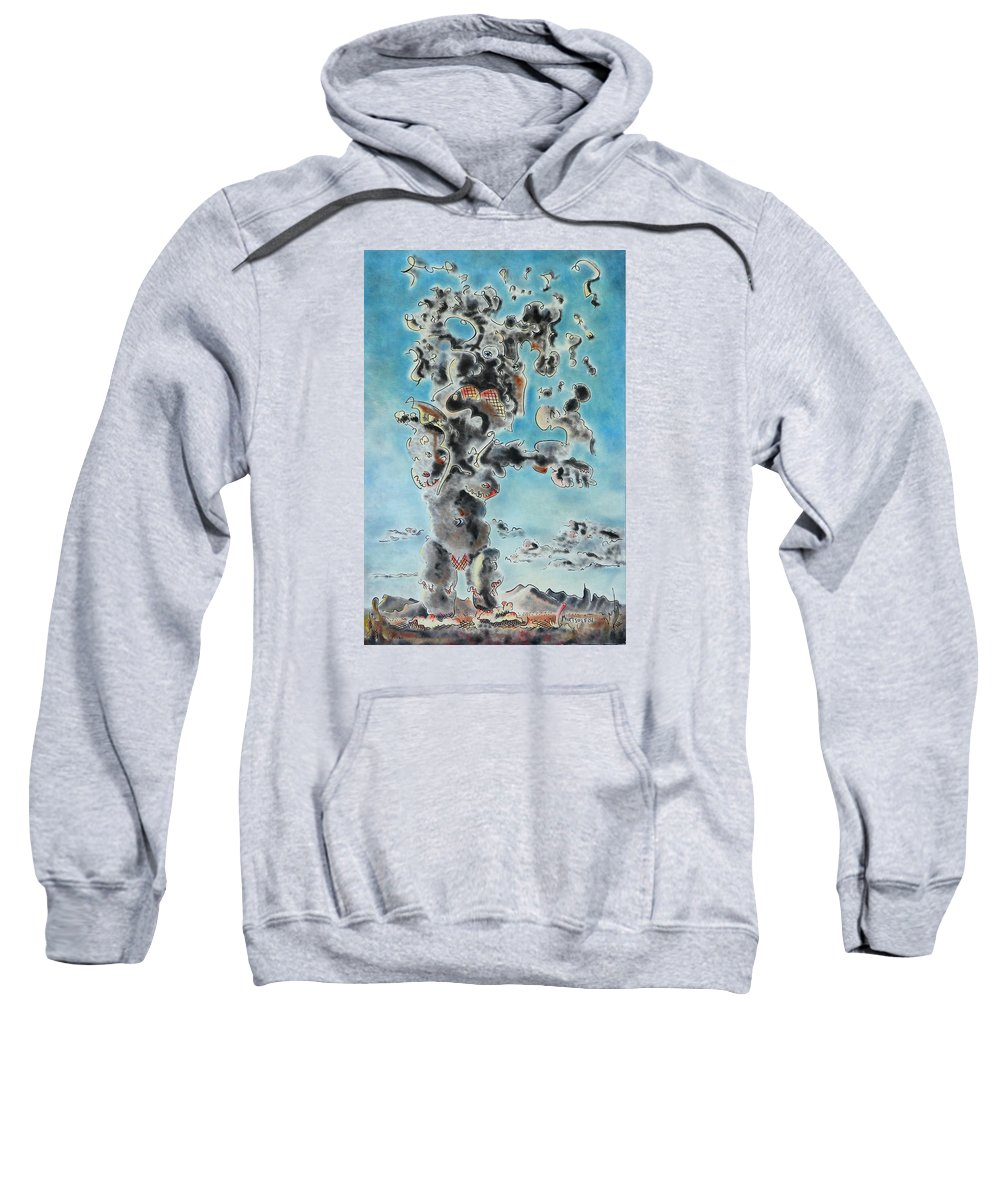 Surreal Sweatshirt featuring the painting Spectre by Dave Martsolf
