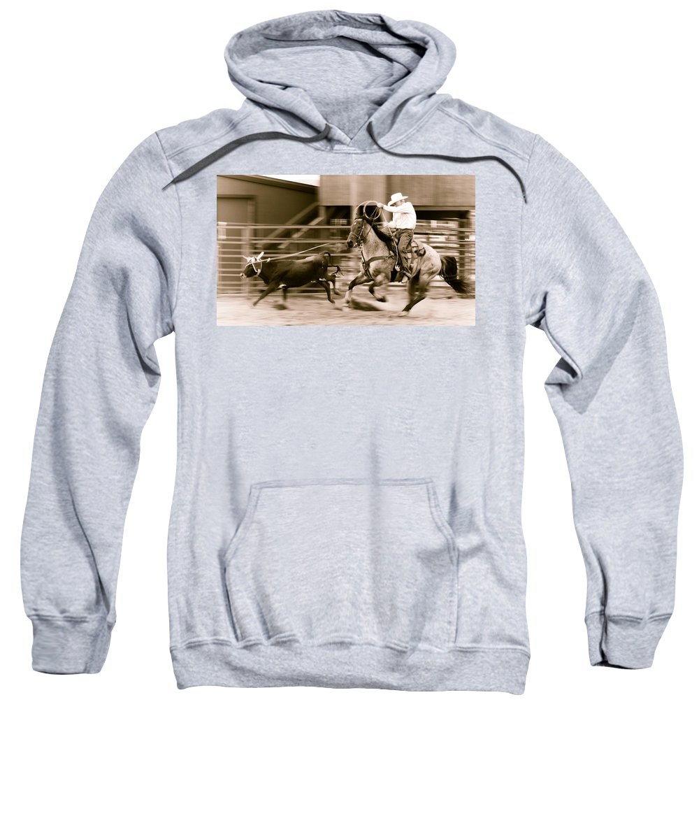 Rodeo Sweatshirt featuring the photograph Speed by Scott Sawyer