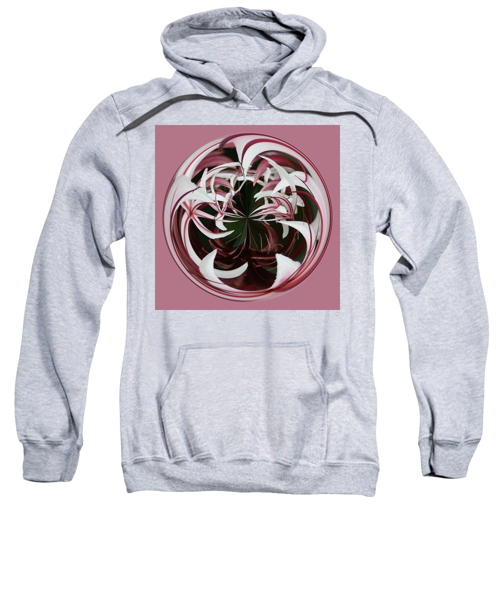 Spider Lily Sweatshirt featuring the photograph Spider Lily Orb by Bill Barber