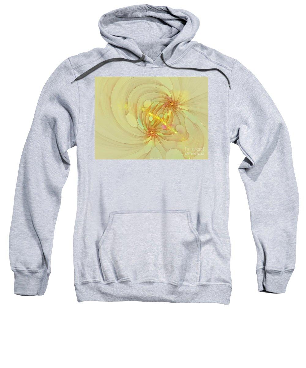 Fractal Sweatshirt featuring the digital art Spiral Mind Connection by Deborah Benoit