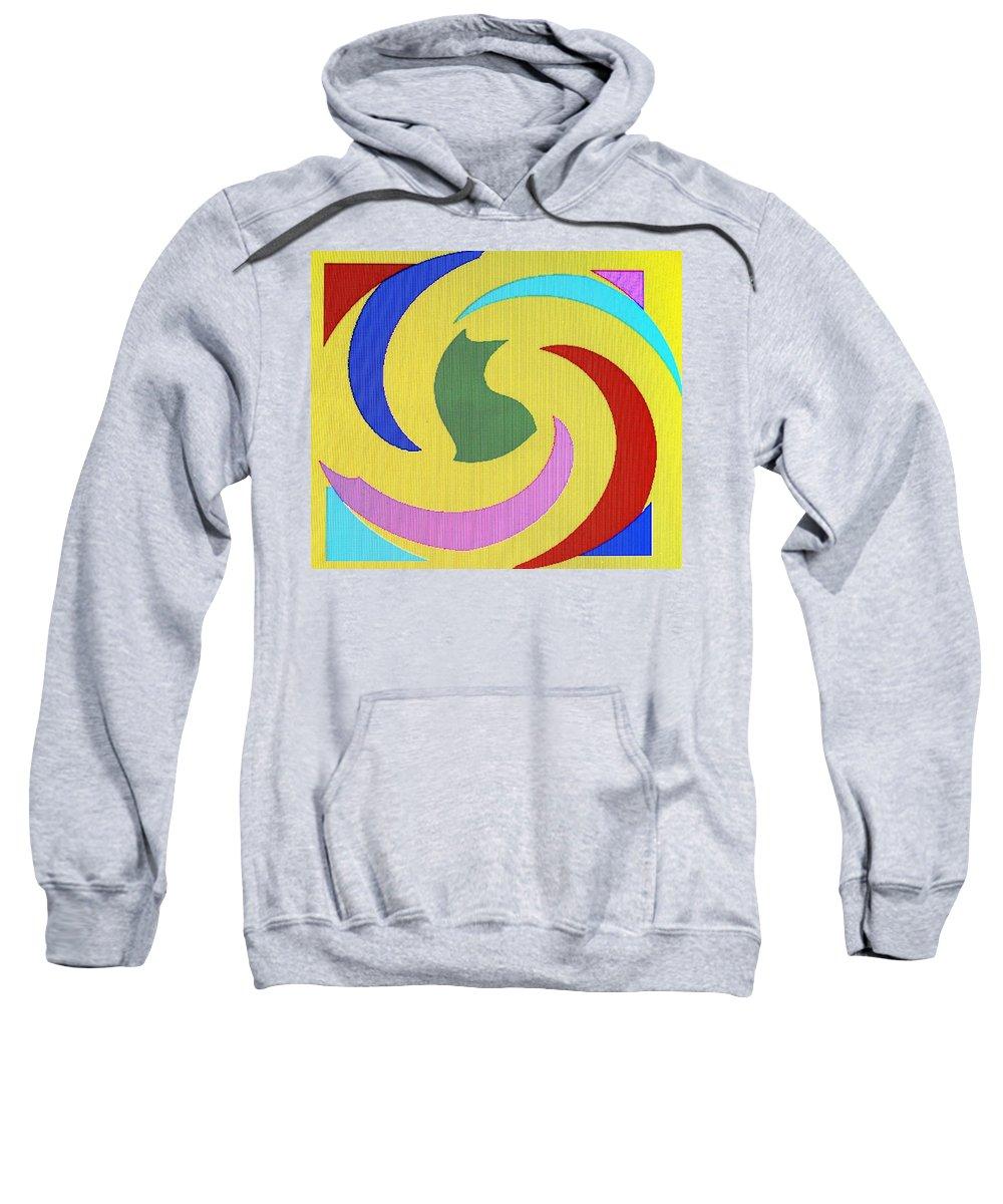 Abstract Sweatshirt featuring the digital art Spiral Three by Ian MacDonald
