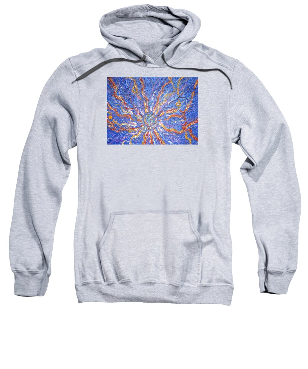 Spiritual Symbol Sweatshirt featuring the painting Spirale Money Magnet by Joanna Pilatowicz