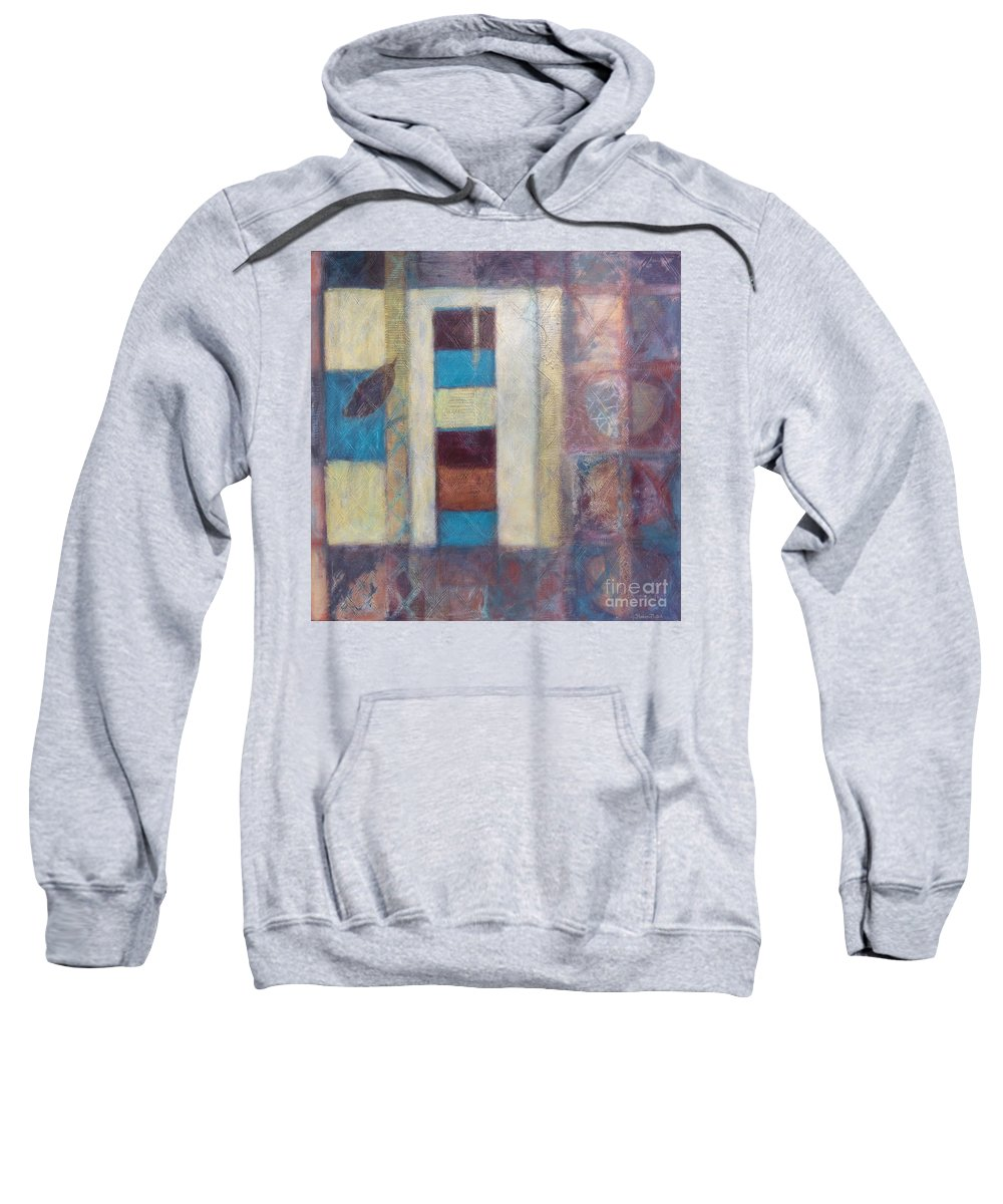 Spiritual Sweatshirt featuring the painting Spirit Of Gold - States Of Being by Kerryn Madsen- Pietsch