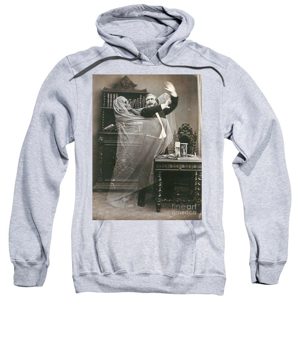 1863 Sweatshirt featuring the photograph Spirit Photograph, 1863 by Granger