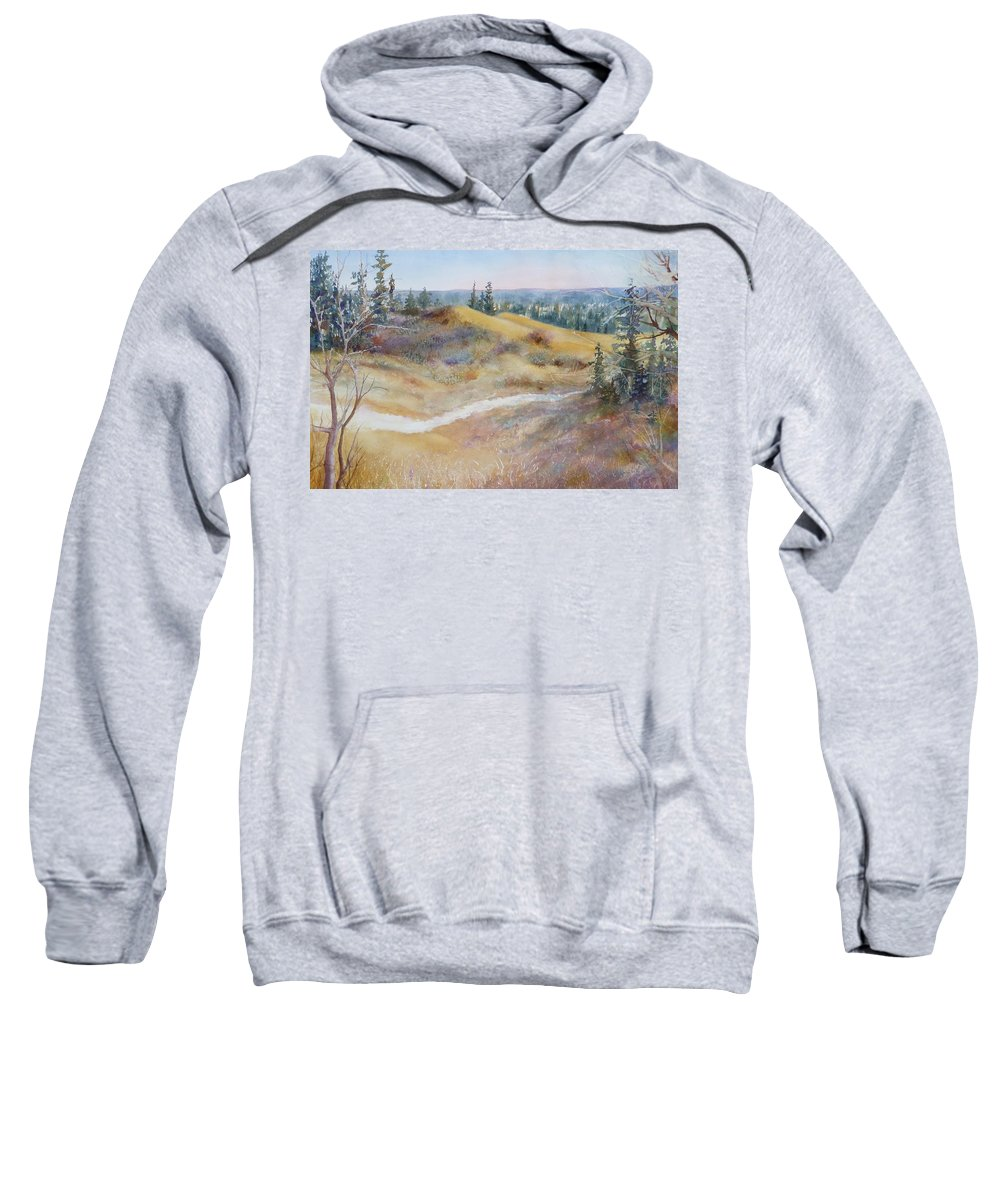 Landscape Sweatshirt featuring the painting Spirit Sands by Ruth Kamenev